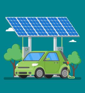 Solceller och laddstation